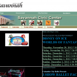 The Civic Center's crappy website doesn't even list upcoming events in chronological order.