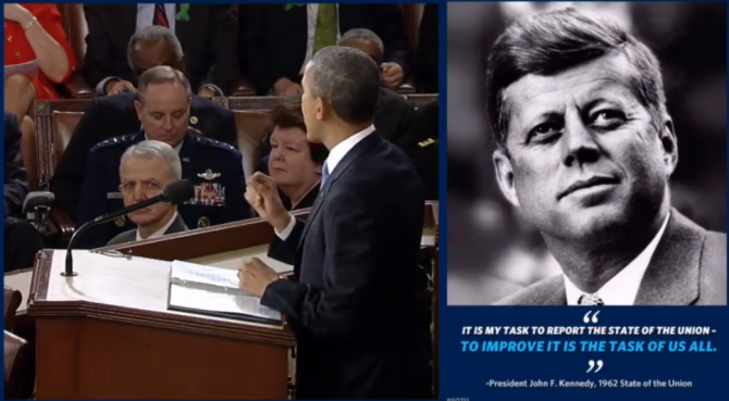 "Screen capture from the ""enhanced version"" of the State of the Union on WhiteHouse.gov"