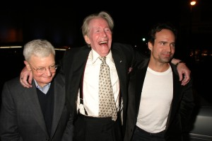 a public domain photo of Roger Ebert, Peter O'Toole, and Jason Patric in Savannah in 2004