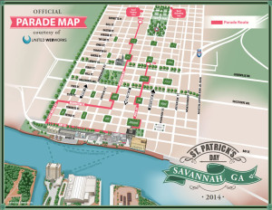 St. Patricks Parade Map